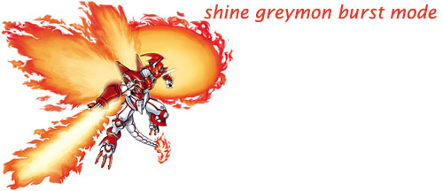 shine greymon burst mode