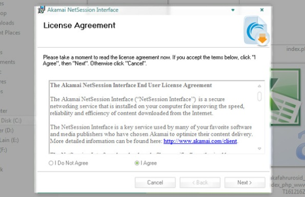 install akamai agreement