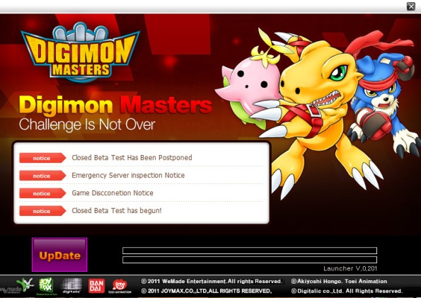 english digimon masters online launcher